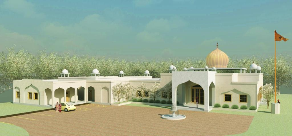 Artist impression of Gurdwara in full glory. It will be finished in three phases. Currently, we are fund raising for phase one.